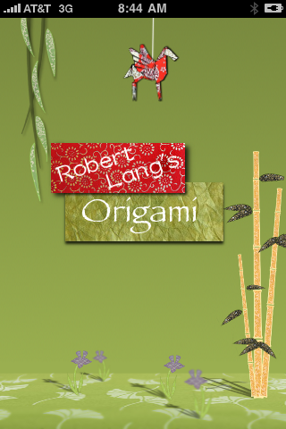 Screenshot Robert Lang's Origami